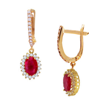 Earrings 18ct Gold with