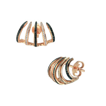Earrings 18ct Rosegold with