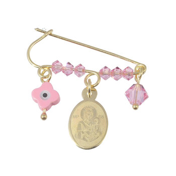 Pin 9ct gold with hanging charms