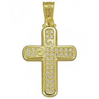 Cross 14 Carats Gold with