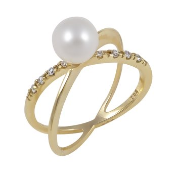 Ring 14ct Gold with Pearls