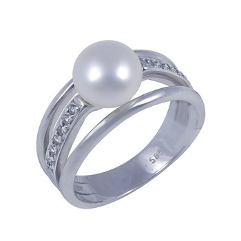 Ring 14ct White gold with