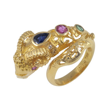 Ring 18ct Gold with Precious
