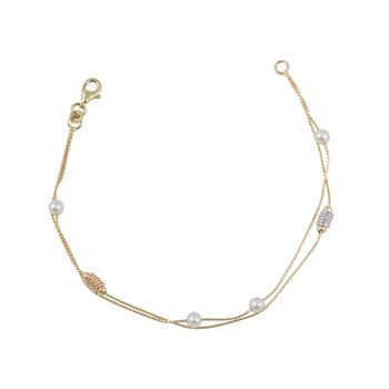 Bracelet 14ct Gold with Pearl