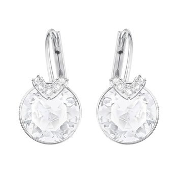 White Bella V Pierced Earrings
