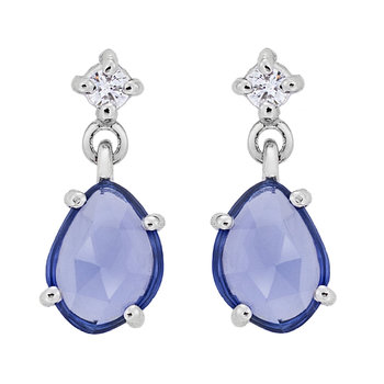 Earrings 18k whitegold with
