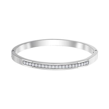 SWAROVSKI White Live Thin Bangle (M)