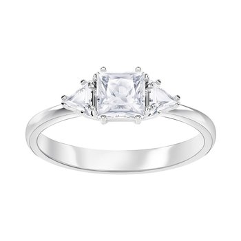 SWAROVSKI White Attract Trilogy Ring (No52)