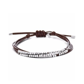 Brass And Leather Bracelet by