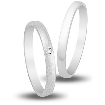 Wedding Rings in 9ct White