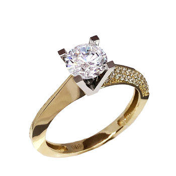 Ring 14ct Gold and White Gold