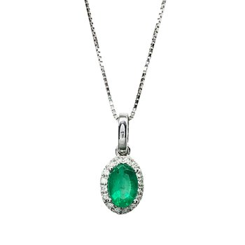 Necklace 18K White Gold with
