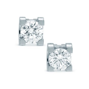 Earrings 18ct Whitegold with