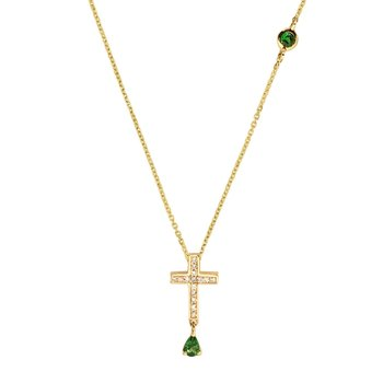 Necklace with cross SAVVIDIS