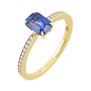 Ring 18K gold with diamonds