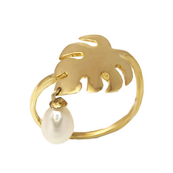 Ring 14K Gold with pearls
