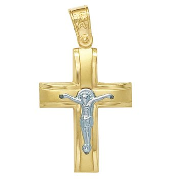 Cross 14K gold and white gold
