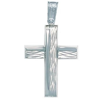 Cross 14K White gold SAVVIDIS