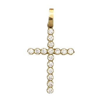 Bovo Cross 14ct Gold with