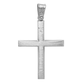 Cross made from 18ct White