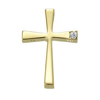 Cross 14ct Gold with Diamond