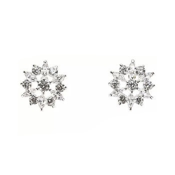 GLORIA HOPE Metal Earrings Set