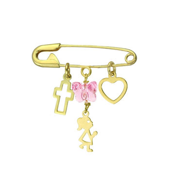 Pin 9ct Gold with hanging