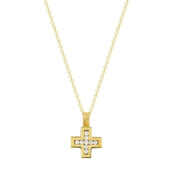 Cross 18ct Gold with Diamonds