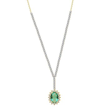 Necklace colori 14K Gold with