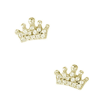 Earrings 9ct gold with Zircon