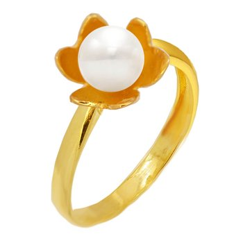 Ring 9ct Gold with Pearl