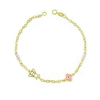 Bracelet 9ct Gold with Pearls
