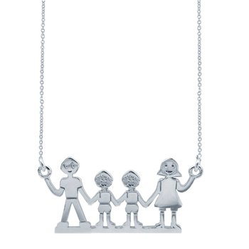 Necklace Family 14ct White