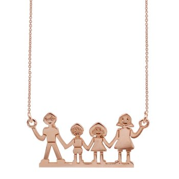 Necklace Family 14ct Rose