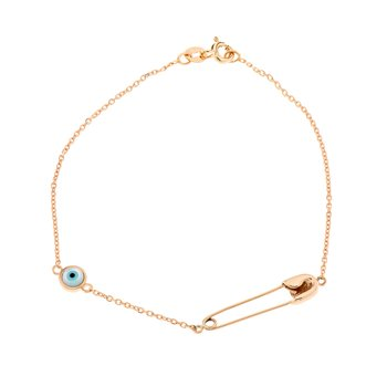 Bracelet with pin and charm