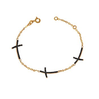 Bracelet with cross 14ct Rose