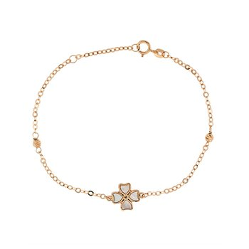 Bracelet with cross 9ct rose
