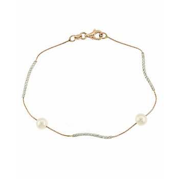 Bracelet 14ct rose gold and