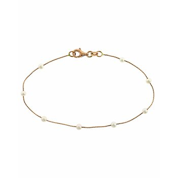Bracelet 14ct rose gold with
