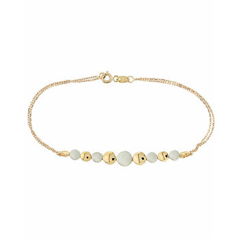 Bracelet 14ct gold and white