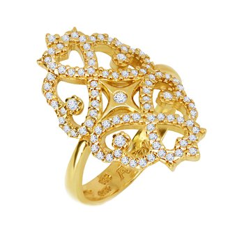 Ring 14ct Gold with Zircon