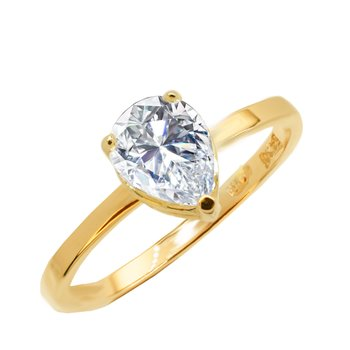 Solitaire ring Petra 14ct