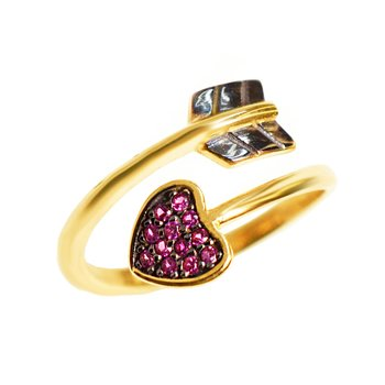 Ring Chevalier with Heart The