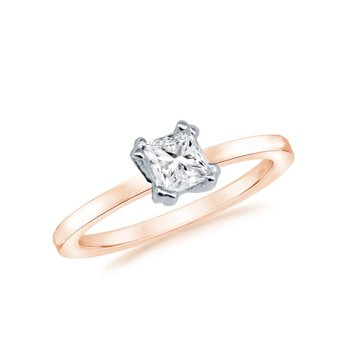 Solitaire ring 18ct Rose Gold