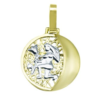 Pendant 14ct Gold Zodiac