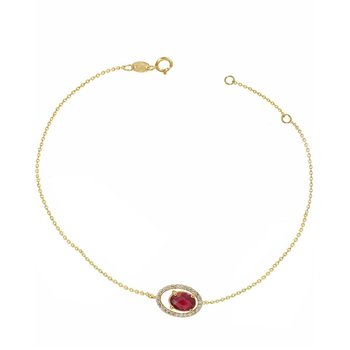 Bracelet 14K Gold with Zircon