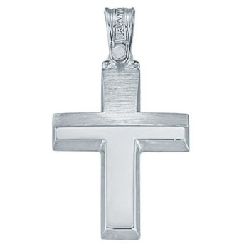 Cross 18ct White gold by Triantos