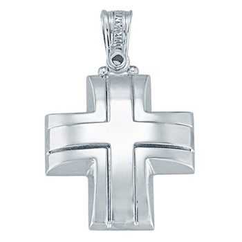 Cross 14ct White gold by Triantos