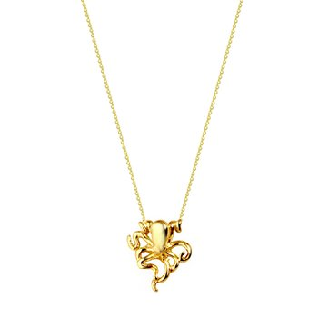 Necklace Octopus in 14K gold