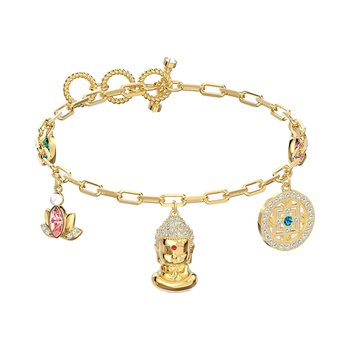 SWAROVSKI Light multi-colored Symbolic Buddha Bracelet